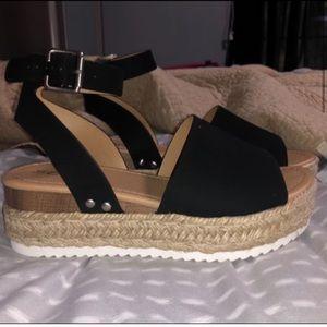 Soda Shoes - SIZE 10 Women's Open Toe Espadrille Sandal